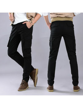 Pants Men Work Slim Fit Chic Cargo Overalls Skinny Military Packet Trousers New by Ebay Seller