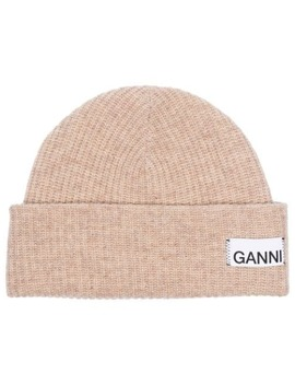 Knitted Beanie Hat by Ganni