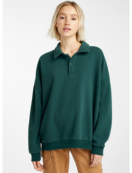 Loose Polo Sweatshirt by Twik