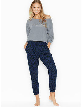 High Waist Fleece Jogger by Victoria Sport