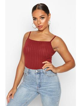 Recycled Wide Rib Longline Cami Top by Boohoo