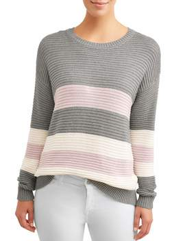 Women's Ottoman Stitch Sweater by Time And Tru