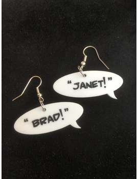 "Rocky Horror Inspired ""Brad!"" ""Janet!"" Quote Earrings by Etsy"