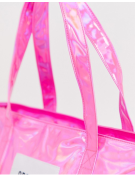 Opening Ceremony Holgraphic Medium Tote Bag by Opening Ceremony