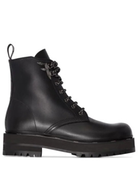 50mm Lace Up Boots by Fendi