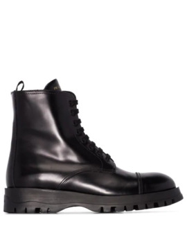 Lace Up Boots by Prada