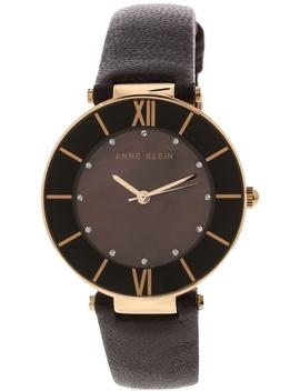Anne Klein Women's Ak 3272 Rgpl Purple Leather Quartz Fashion Watch by Anne Klein