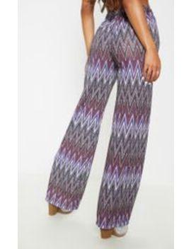 Multi Textured Glitter Tie Waist Crop Pants by Prettylittlething