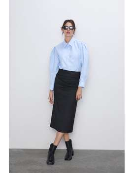 Pencil Skirt With Ruching View All Skirts Woman by Zara