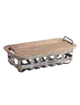 Weston Bread Basket With Serving Board by Pier1 Imports