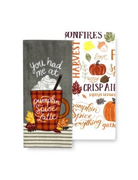 Celebrate Fall Together Pumpkin Spice Kitchen Towel 2 Pk. by Celebrate Fall Together