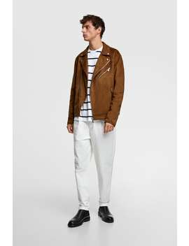 Faux Suede Biker Jacket View All Jackets Man by Zara
