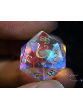 Fantastic Glass Dn D Dice Set Dice Set Gemstone Dice Set Moon Version by Etsy
