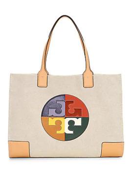 Ella Colorblock Logo Tote by Tory Burch