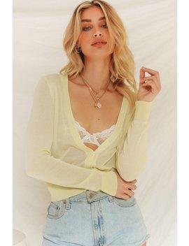 New Wave Button Front Knit Top // Lemon by Vergegirl