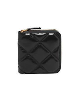 Mini Leather Zip Around Wallet by Bottega Veneta
