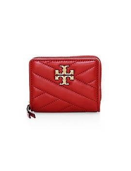 Kira Chevron Leather Bi Fold Wallet by Tory Burch