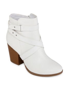 A.N.A Womens Lexington Booties Stacked Heel by A.N.A