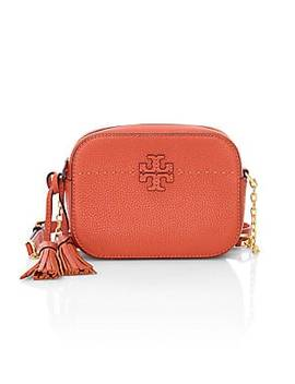 Mc Graw Leather Camera Bag by Tory Burch