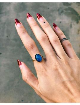 Oval Mood Ring | Sterling Silver Or 18k Gold by Etsy
