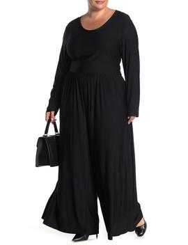 Long Sleeve Knit Jumpsuit (Plus Size) by West Kei