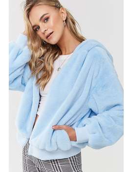 Faux Fur Hooded Coat by Forever 21