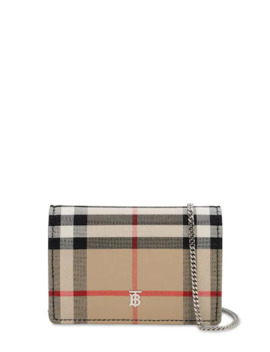 Jessie Vintage Check Mini Chain Wallet by Burberry