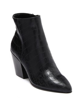 Coltyn Croc Embossed Leather Bootie by Dolce Vita