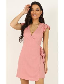 Over My Shoulder Dress In Blush by Showpo Fashion
