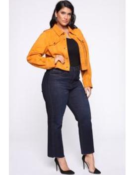 Ain't My Fault Jacket   Gold by Fashion Nova