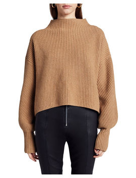 Helena Mock Neck Lambswool Sweater by A.L.C.