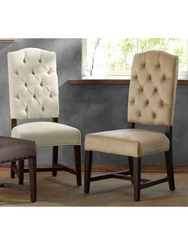 Ashton Tufted Upholstered Dining Chair by Pottery Barn