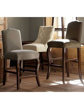 Calais Upholstered Bar & Counter Stool by Pottery Barn
