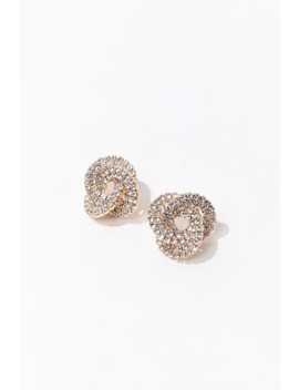 Rhinestone Circle Studs by Forever 21
