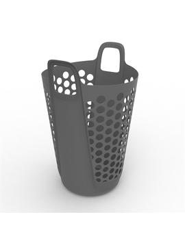 Ezy Storage 57 L Flexi Laundry Hamper   Grey by Ezy Storage
