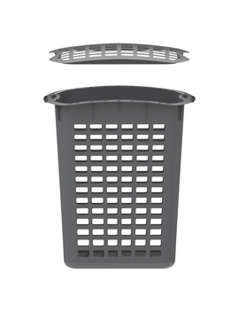 Home Leisure 90 L Laundry Hamper With Lid   Charcoal by Home Leisure