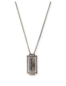 Long Razor Necklace by Saint Laurent