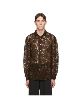 Brown Air Clean Lace Shirt by Hope