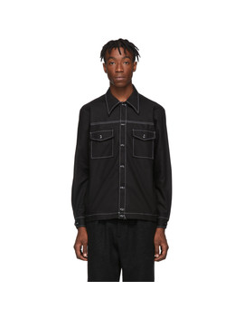 Black Canvas Rodeo Shirt by Paa