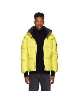 Yellow Down Lustrous Kent Jacket by Mackage