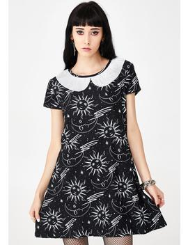 Celestial A Line Mini Dress by Too Fast