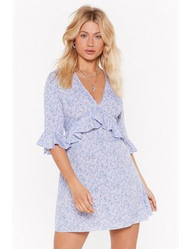 Frillin' It Floral Mini Dress by Nasty Gal