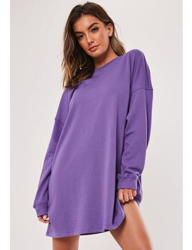 Purple Oversized Sweater Dress by Missguided