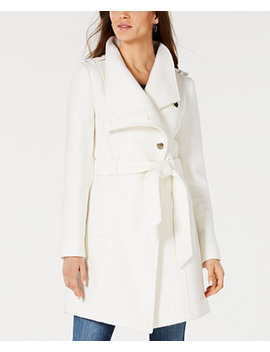 Asymmetrical Wrap Coat, Created For Macy's by General
