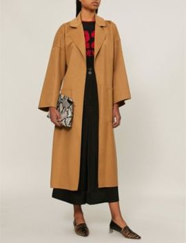 Oversized Wool And Cashmere Blend Coat by Loewe
