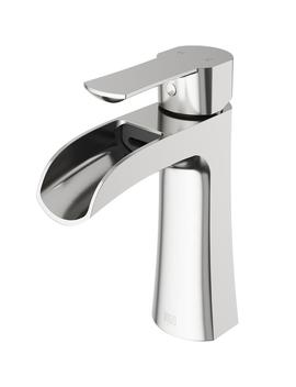 Paloma Single Hole Single Handle Bathroom Faucet In Brushed Nickel by Vigo