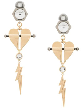 Heart And Lightning Earrings by Prada