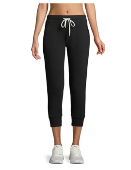 Cropped Drawstring Jogger Pants by Monrow