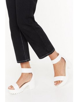 Keep On Walking Faux Leather Sandals by Nasty Gal