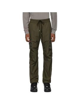 Green High Shrunk Nylon Cargo Pants by John Elliott